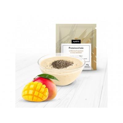 MyKETO Proteínová kaša s príchuťou mango s chia semienkami 1 porcia 40g