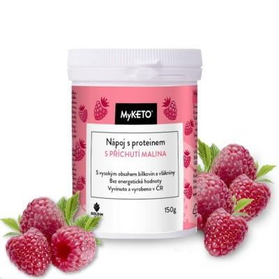 MyKETO Nápoj s proteínom s príchuťou malina 150g