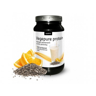 MyKETO MAXI Vegepure Protein GymBody mango-pomaranč a chia 600g