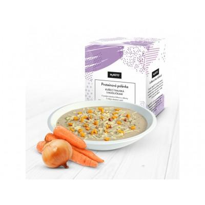 MyKETO Proteínová polievka kuracia thajská s rezancami 1 porcia 40g